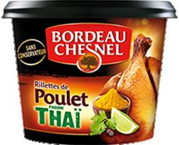 Les Rillettes de Poulet <br>façon Thaï